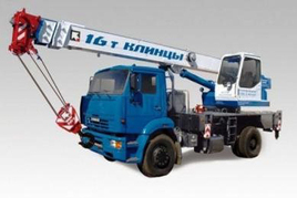 """Автокран """"Клинцы"""" КС-35719-8А 16 т. на шасси — КАМАЗ-53605 (4х2)"""