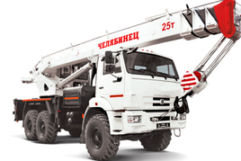"Автокран ""Челябинец"" КС-55732-28 25 т. на базе автомобильного шасси РИАТ (6x6)"