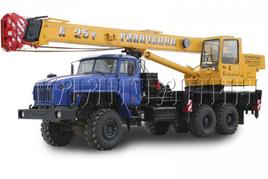 "Автокран ""Галичанин"" КС-55713-3 25 т. на базе автомобильного шасси Урал-4320 (6х6)"