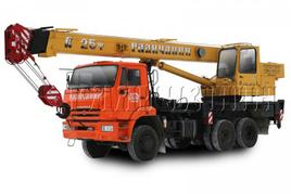 "Автокран ""Галичанин"" КС-55713-4 25 т. на базе автомобильного шасси КамАЗ-65111 (6х6)"