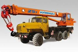 """Автокран """"Клинцы"""" КС-55713-3К-3 25 т. на Шасси-УРАЛ-5557 (6х6)"""