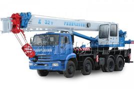 """Автокран """"Галичанин"""" КС-55729-1B 32 т. на базе автомобильного шасси КамАЗ-6540 (8х4)"""