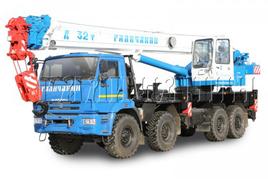 """Автокран """"Галичанин"""" КС-55729-5B 32 т. на базе автомобильного шасси КамАЗ-63501 (8х8)"""
