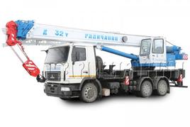 """Автокран """"Галичанин"""" КС-55729B 32 т. на базе автомобильного шасси МАЗ-6312 (6х4)"""