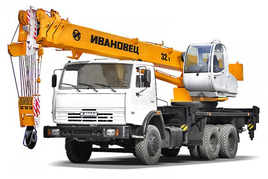 "Автокран ""Ивановец"" КС-5576К 32 т. на шасси МАЗ-65115 (6х4)"